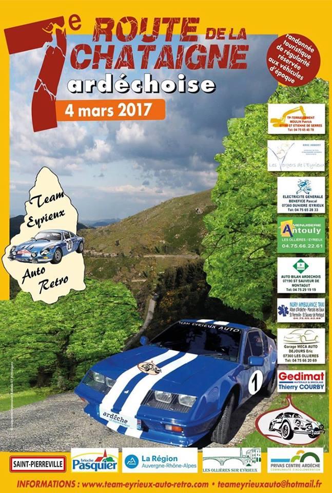 7ème Route de la Châtaigne Ardéchoise – 4 mars 2017 – Team Eyrieux Auto Retro, Les Ollières
