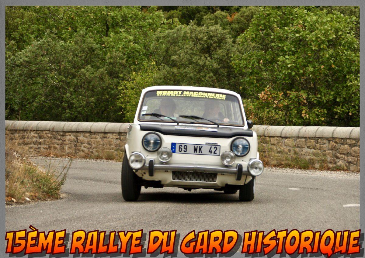 15ème Rallye du Gard Historique 2017 – 30 septembre et 1er octobre – Bessèges, Gard