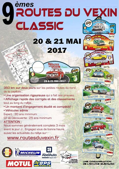 Les 9ème Routes du Vexin Classic – 20 et 21 mai 2017 – Savignies (Oise)