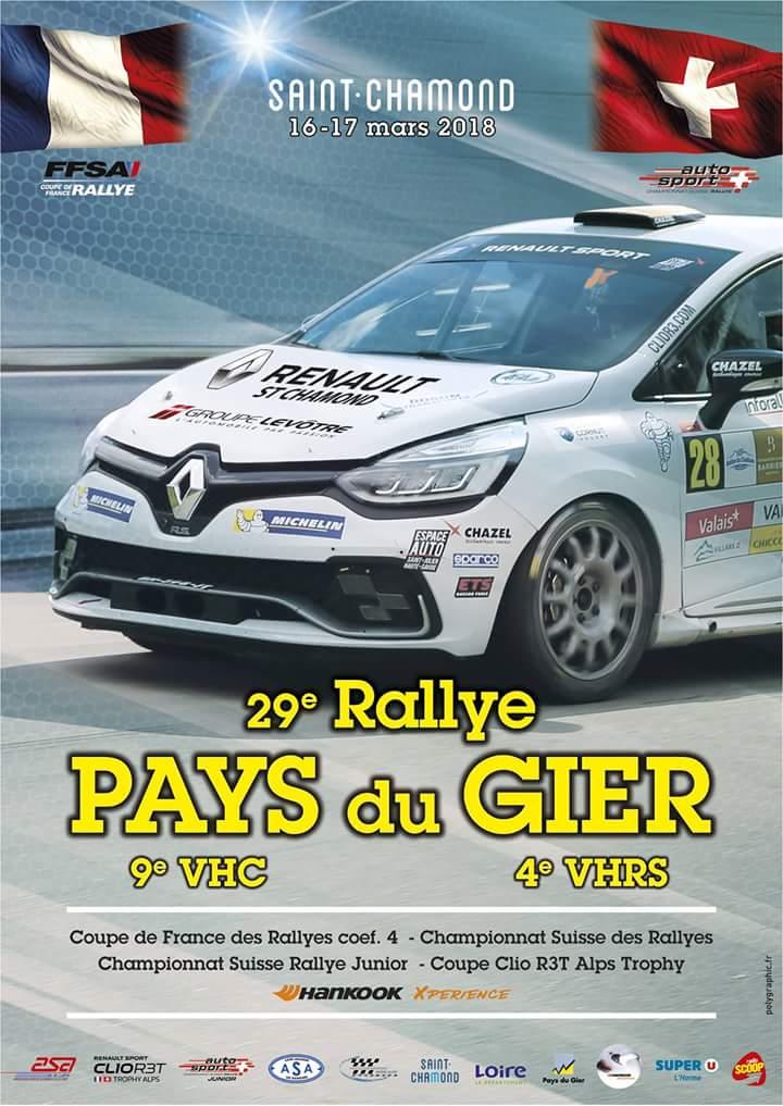 4ème Rallye VHRS Pays du Gier – 16 et 17 mars 2018 – Saint Chamond, Loire