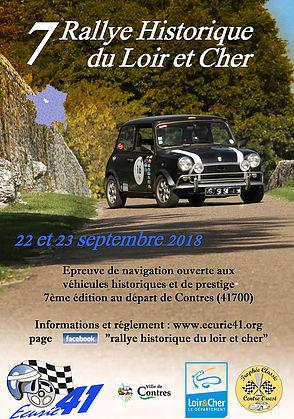 7ème Rallye Historique du Loir et Cher – 22 et 23 septembre 2018 – Contres, Loir et Cher