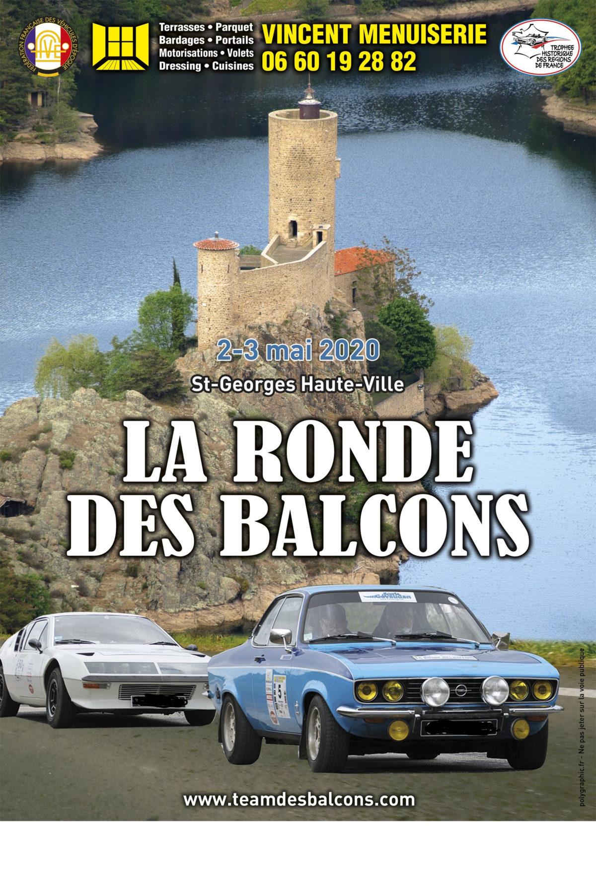 RONDE DES BALCONS 2020 – 2 et 3 mai – Saint Georges Haute Ville, Loire